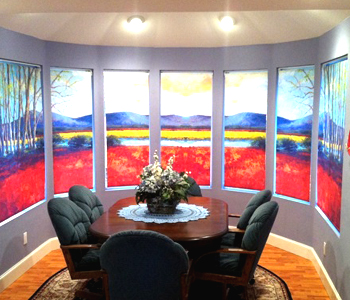 Oc window shades printed window shades for Motorized shades los angeles